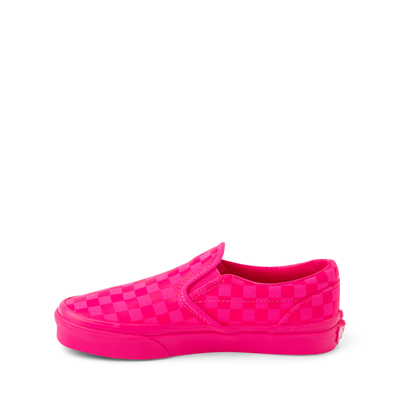 Alternate view of Vans Slip On Tonal Checkerboard Skate Shoe - Little Kid - Pink Glow