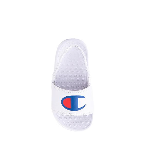alternate view Champion IPO Slide Sandal - Baby / Toddler - WhiteALT1
