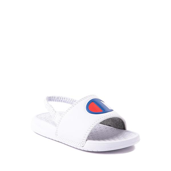 alternate view Champion IPO Slide Sandal - Baby / Toddler - WhiteALT5