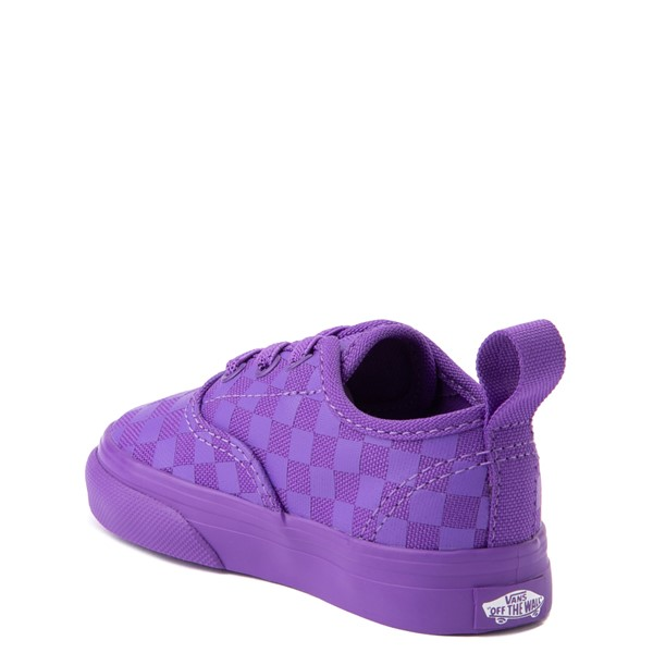 alternate view Vans Authentic Tonal Checkerboard Skate Shoe - Baby / Toddler - Electric PurpleALT1