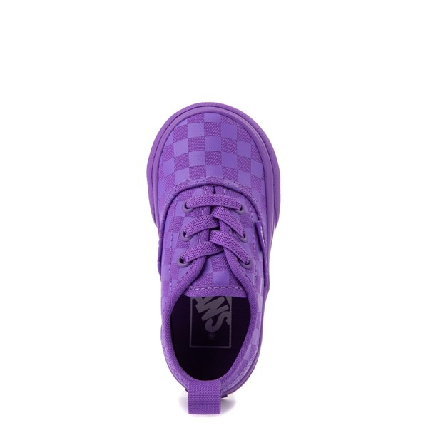alternate view Vans Authentic Tonal Checkerboard Skate Shoe - Baby / Toddler - Electric PurpleALT2