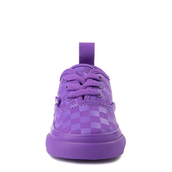 alternate view Vans Authentic Tonal Checkerboard Skate Shoe - Baby / Toddler - Electric PurpleALT4
