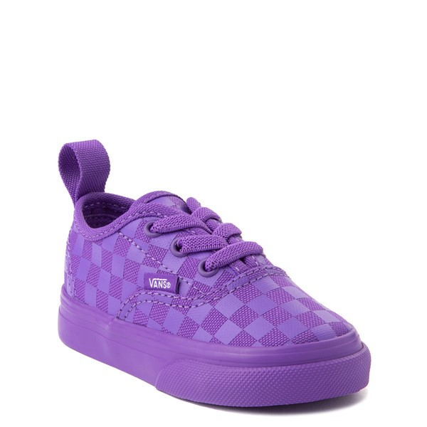 alternate view Vans Authentic Tonal Checkerboard Skate Shoe - Baby / Toddler - Electric PurpleALT5