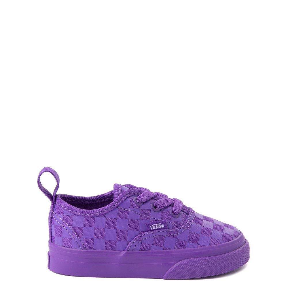 Vans Authentic Tonal Checkerboard Skate Shoe - Baby / Toddler - Electric Purple