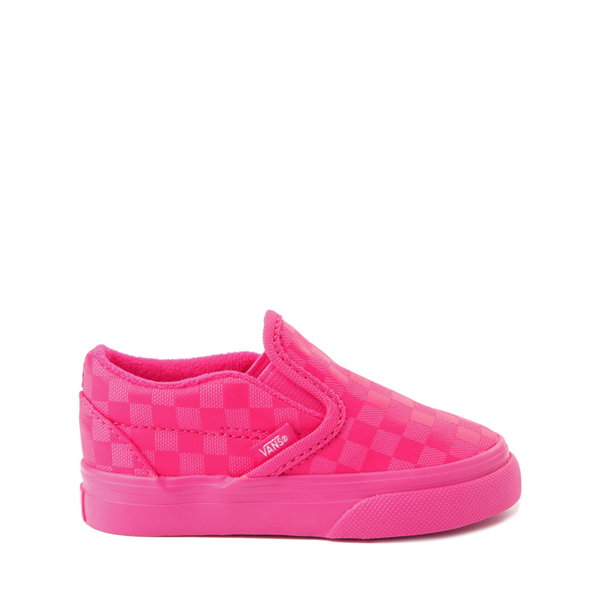 Vans Slip On Tonal Checkerboard Skate Shoe - Baby / Toddler - Pink Glow