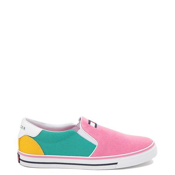 Main view of Tommy Hilfiger Arrin Slip On Casual Shoe - Little Kid / Big Kid - Pink / Color-Block