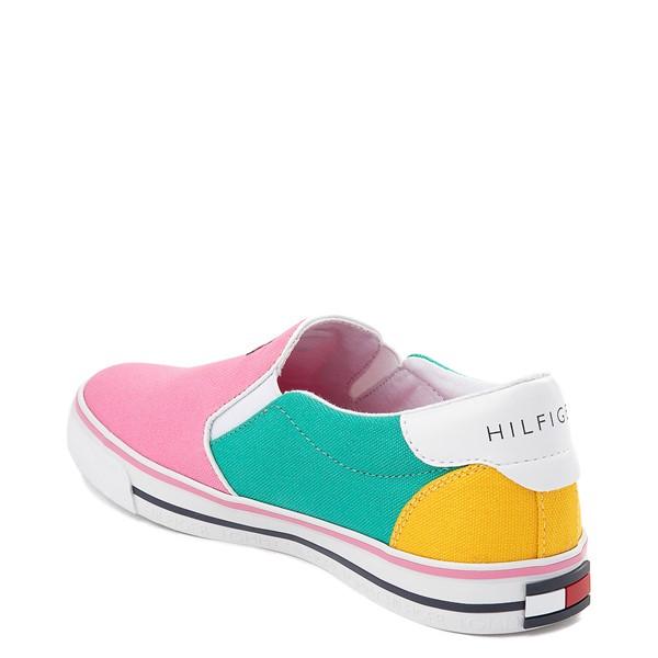 alternate view Tommy Hilfiger Arrin Slip On Casual Shoe - Little Kid / Big Kid - Pink / Color-BlockALT1