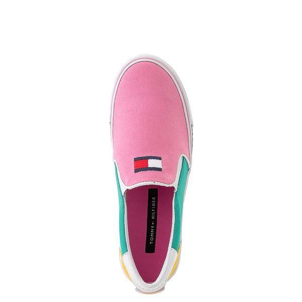 alternate view Tommy Hilfiger Arrin Slip On Casual Shoe - Little Kid / Big Kid - Pink / Color-BlockALT2