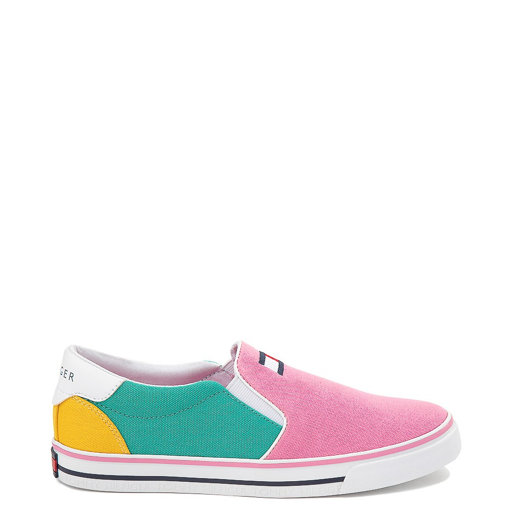 Tommy Hilfiger Arrin Slip On Casual Shoe - Little Kid / Big Kid - Pink / Color-Block