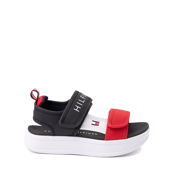 Main view of Tommy Hilfiger Leomi Platform Sandal - Little Kid / Big Kid - Navy / Red / White
