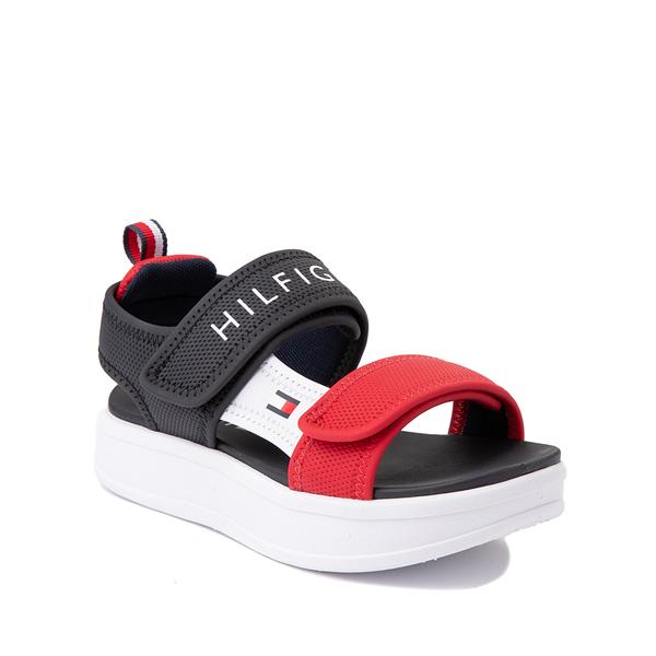 alternate view Tommy Hilfiger Leomi Platform Sandal - Little Kid / Big Kid - Navy / Red / WhiteALT5