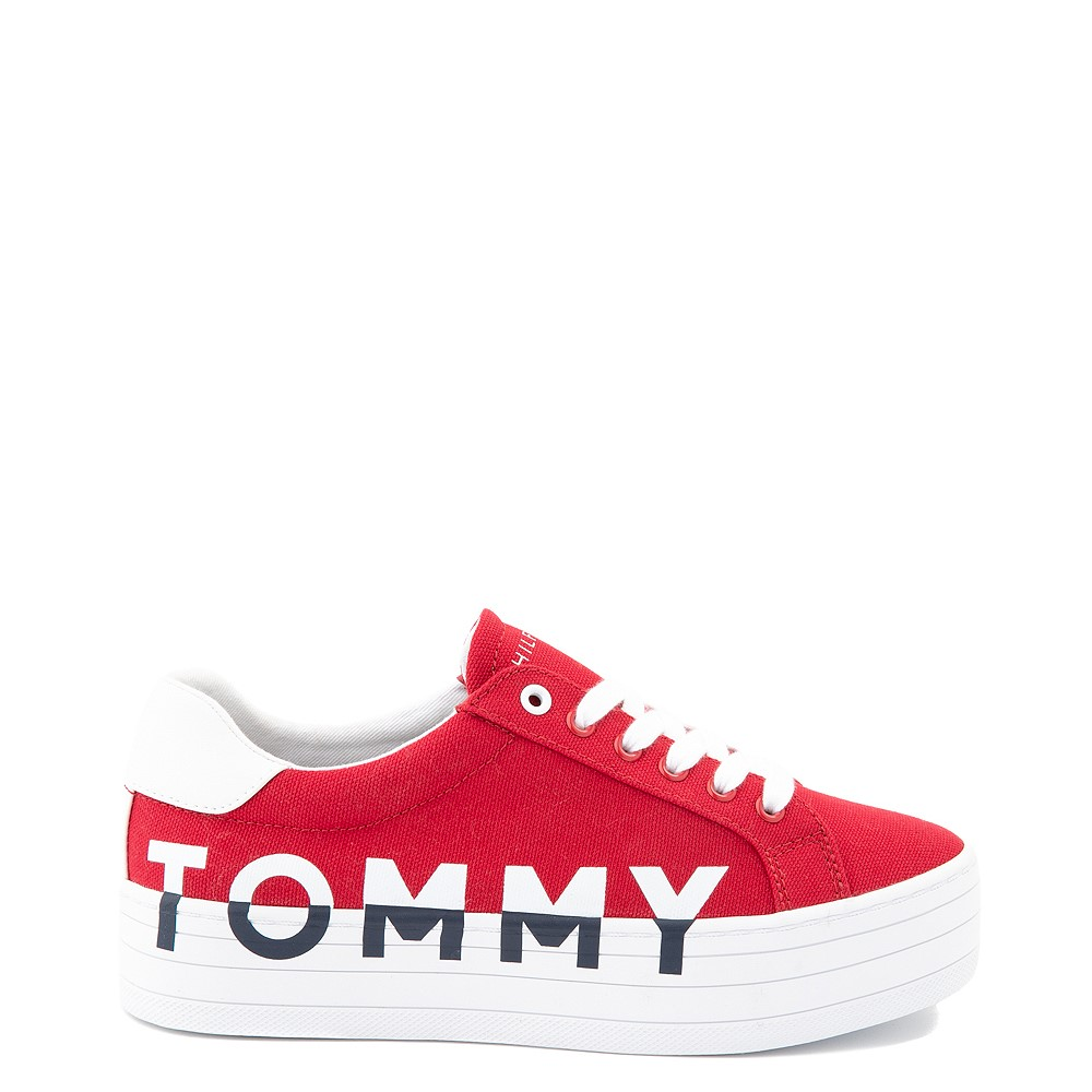 Womens Tommy Hilfiger Blasee Platform Casual Shoe - Red