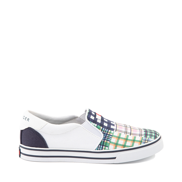 Womens Tommy Hilfiger Oaklyn Patchwork Casual Shoe - White / Navy / Green
