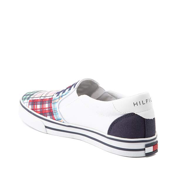 alternate view Womens Tommy Hilfiger Oaklyn Patchwork Casual Shoe - White / Navy / GreenALT1