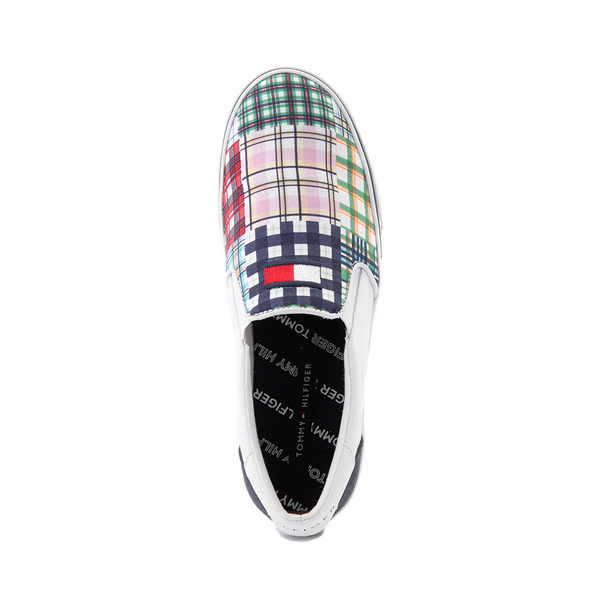 alternate view Womens Tommy Hilfiger Oaklyn Patchwork Casual Shoe - White / Navy / GreenALT2