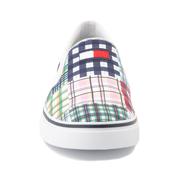 alternate view Womens Tommy Hilfiger Oaklyn Patchwork Casual Shoe - White / Navy / GreenALT4