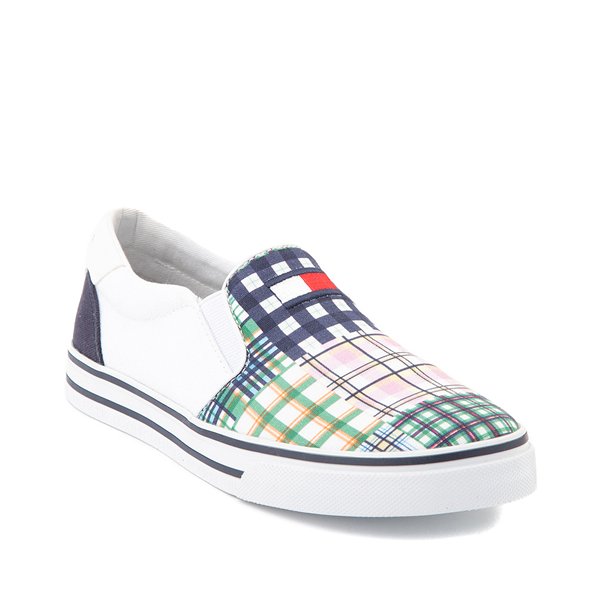 alternate view Womens Tommy Hilfiger Oaklyn Patchwork Casual Shoe - White / Navy / GreenALT5