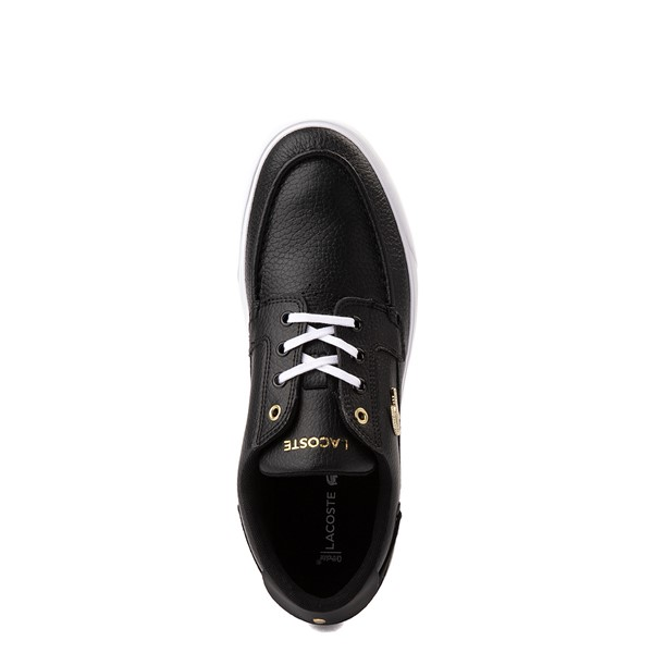 alternate view Mens Lacoste Bayliss Deck Boat Shoe - BlackALT2