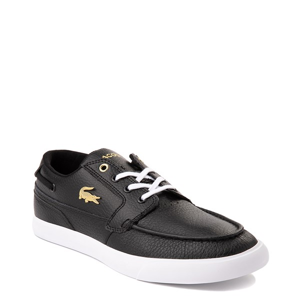 alternate view Mens Lacoste Bayliss Deck Boat Shoe - BlackALT5