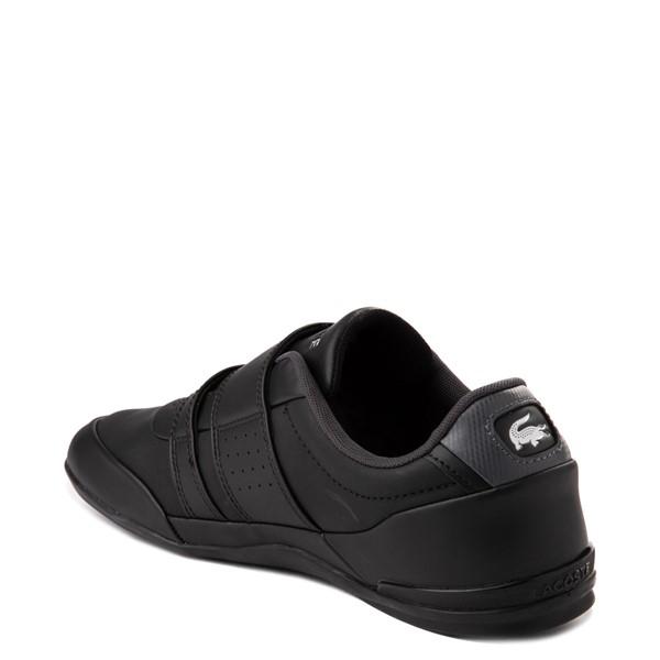 alternate view Mens Lacoste Misano Athletic Shoe - Black / SilverALT1