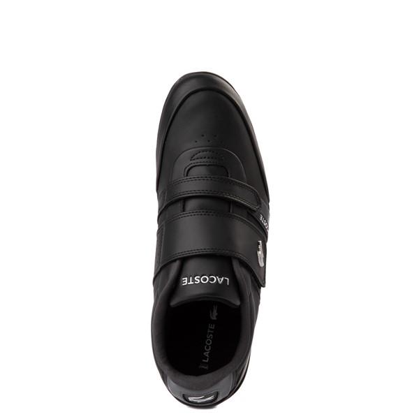 alternate view Mens Lacoste Misano Athletic Shoe - Black / SilverALT4B