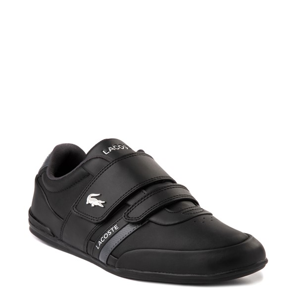 alternate view Mens Lacoste Misano Athletic Shoe - Black / SilverALT5