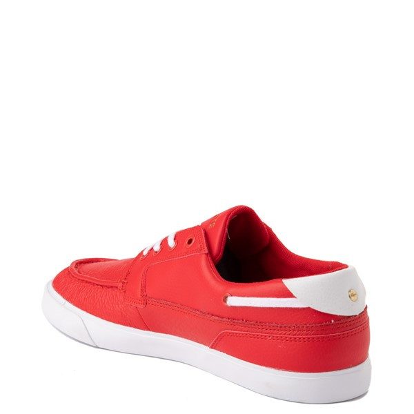 alternate view Mens Lacoste Bayliss Deck Boat Shoe - RedALT1