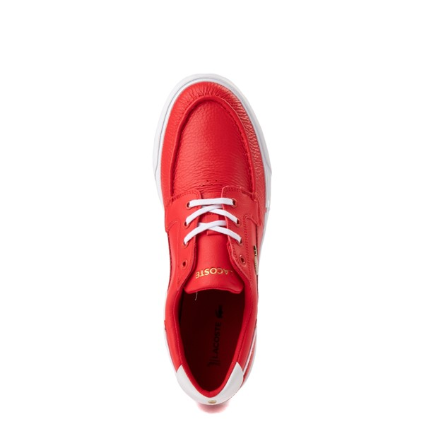 alternate view Mens Lacoste Bayliss Deck Boat Shoe - RedALT4B