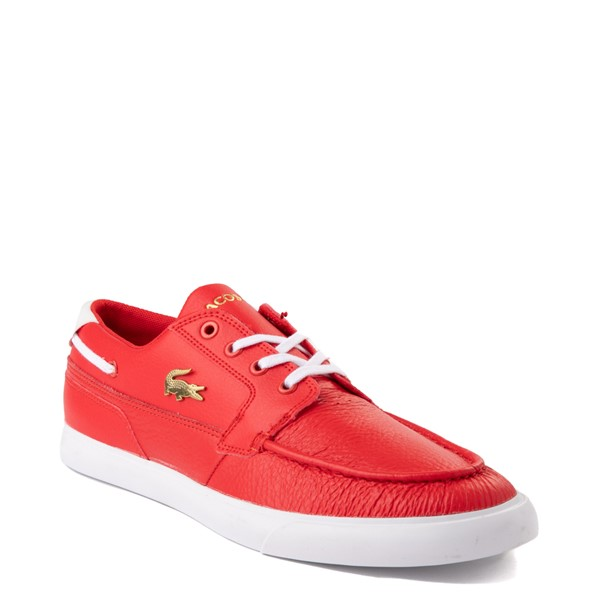alternate view Mens Lacoste Bayliss Deck Boat Shoe - RedALT5