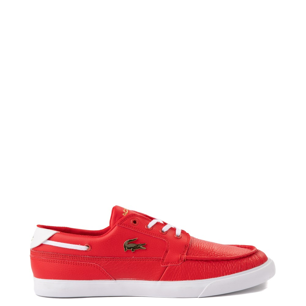 Mens Lacoste Bayliss Deck Boat Shoe - Red