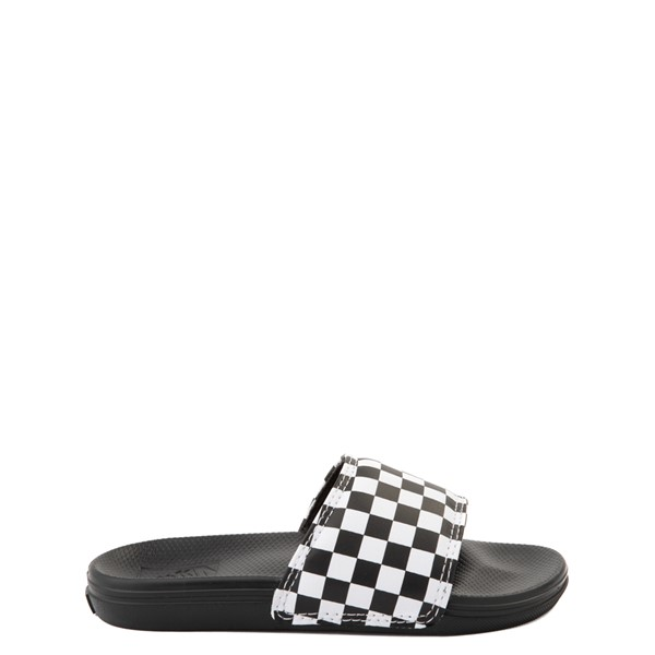 Main view of Vans Slide On Checkerboard Sandal - Little Kid / Big Kid - Black / White