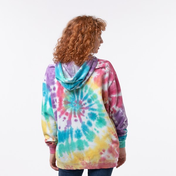 alternate view Womens Pastel Tie Dye Hoodie - MulticolorALT1B