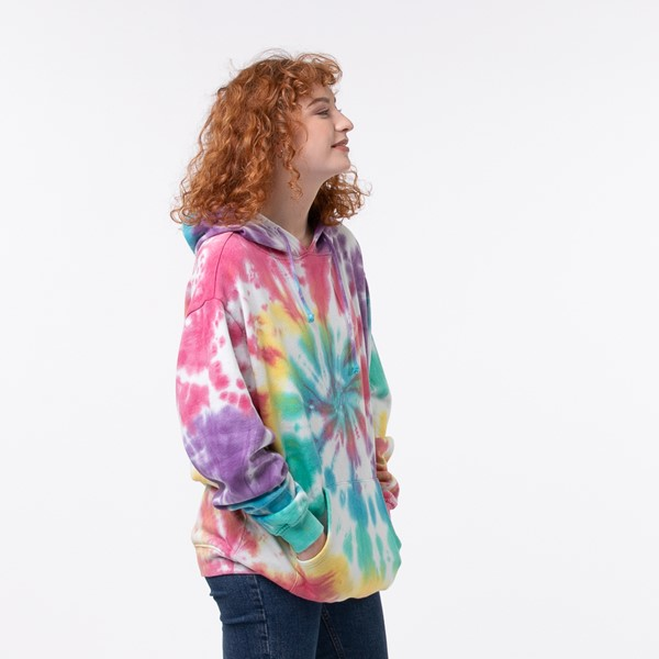 alternate view Womens Pastel Tie Dye Hoodie - MulticolorALT2