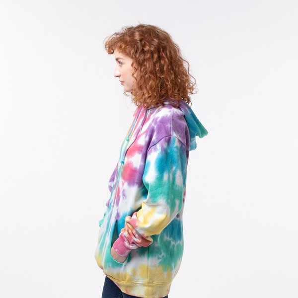 alternate view Womens Pastel Tie Dye Hoodie - MulticolorALT3