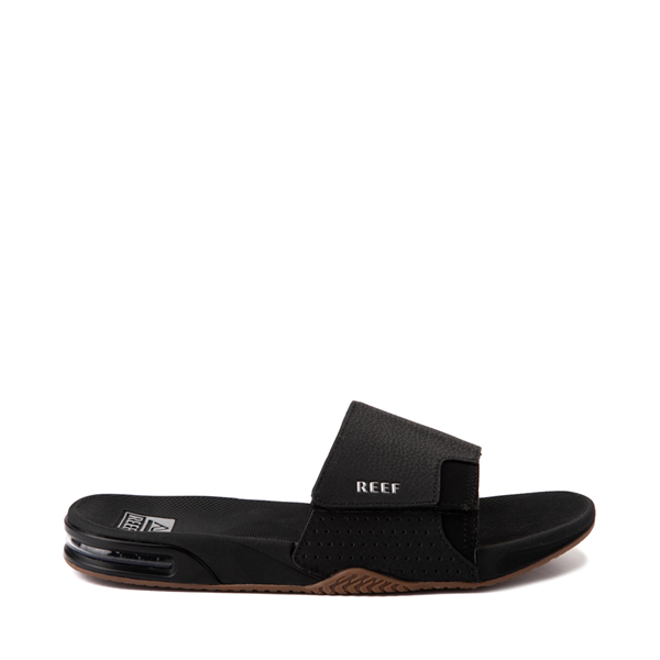 Mens Reef Fanning Slide Sandal - Black / Silver