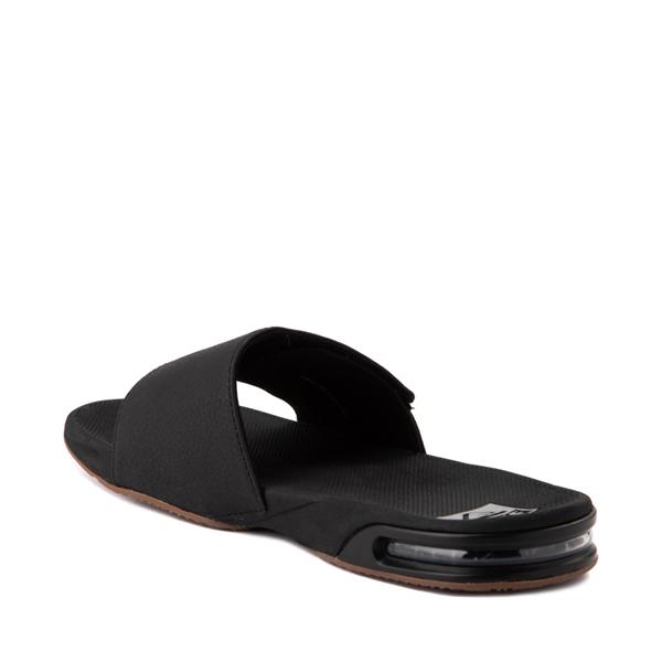 alternate view Mens Reef Fanning Slide Sandal - Black / SilverALT2