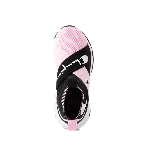 alternate view Champion Hyper C X Athletic Shoe - Big Kid - Black / White / PinkALT2