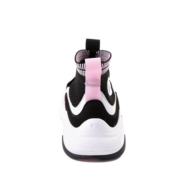 alternate view Champion Hyper C X Athletic Shoe - Big Kid - Black / White / PinkALT4