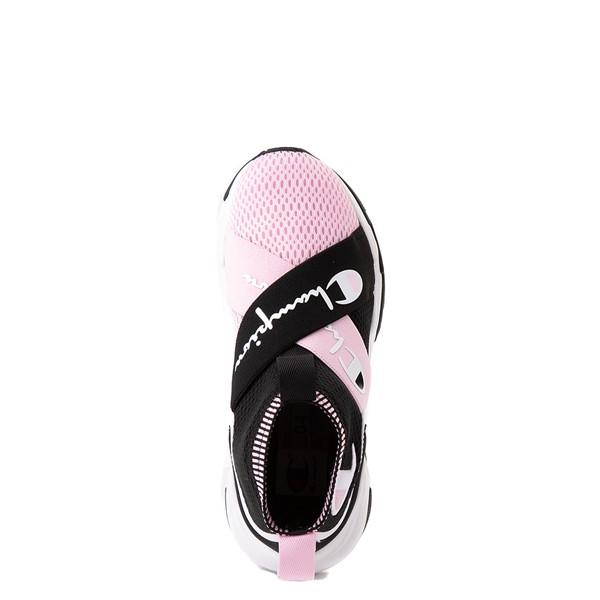 alternate view Champion Hyper C X Athletic Shoe - Big Kid - Black / White / PinkALT4B