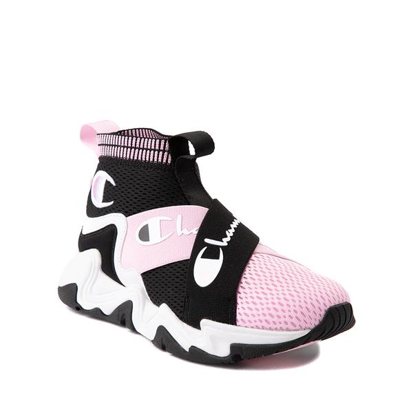 alternate view Champion Hyper C X Athletic Shoe - Big Kid - Black / White / PinkALT5