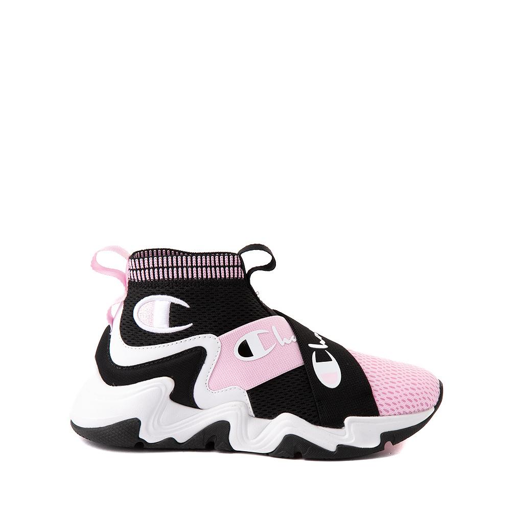Champion Hyper C X Athletic Shoe - Big Kid - Black / White / Pink