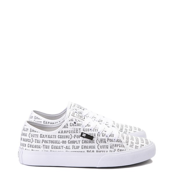 Main view of Mens DC x Bob's Burgers Manual Skate Shoe - White