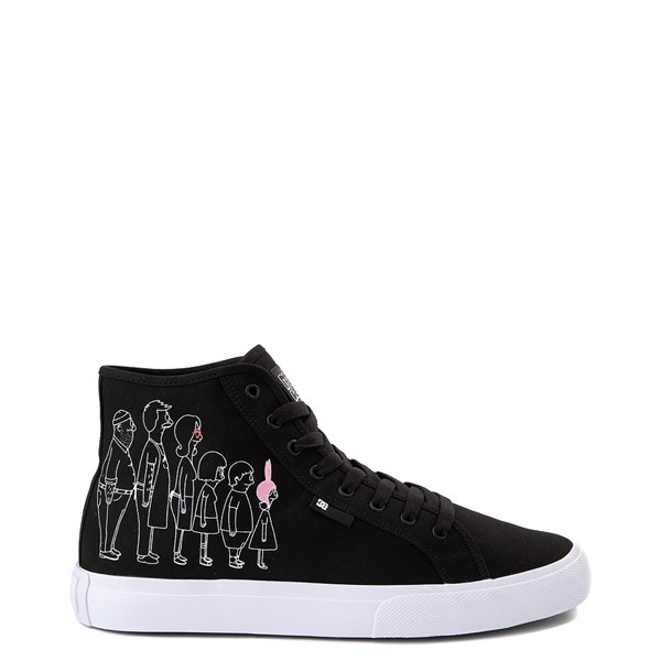 Mens DC x Bob's Burgers Manual Hi Skate Shoe - Black