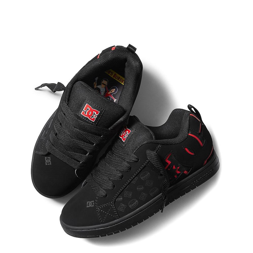 Mens DC x Bob's Burgers Court Graffik Skate Shoe - Black / Red