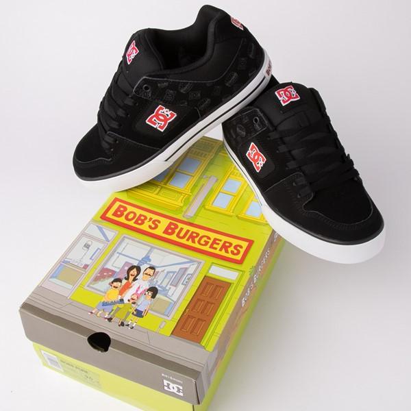 alternate view Mens DC x Bob's Burgers Pure Skate Shoe - BlackALT1B