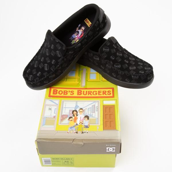 alternate view Mens DC x Bob's Burgers Villain 2 Skate Shoe - BlackALT1B