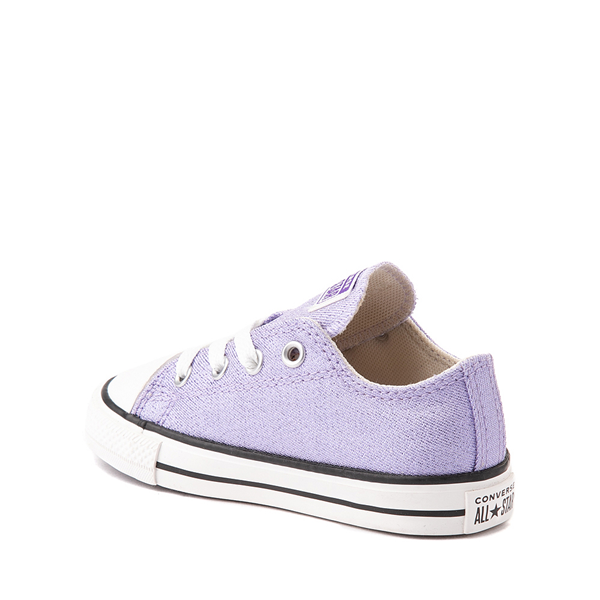 alternate view Converse Chuck Taylor All Star Lo Glitter Sneaker - Baby / Toddler - MoonstoneALT1
