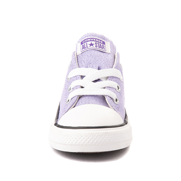 alternate view Converse Chuck Taylor All Star Lo Glitter Sneaker - Baby / Toddler - MoonstoneALT4