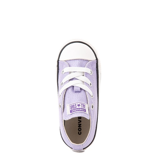 alternate view Converse Chuck Taylor All Star Lo Glitter Sneaker - Baby / Toddler - MoonstoneALT4B
