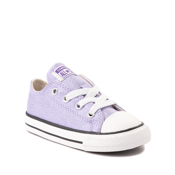 alternate view Converse Chuck Taylor All Star Lo Glitter Sneaker - Baby / Toddler - MoonstoneALT5